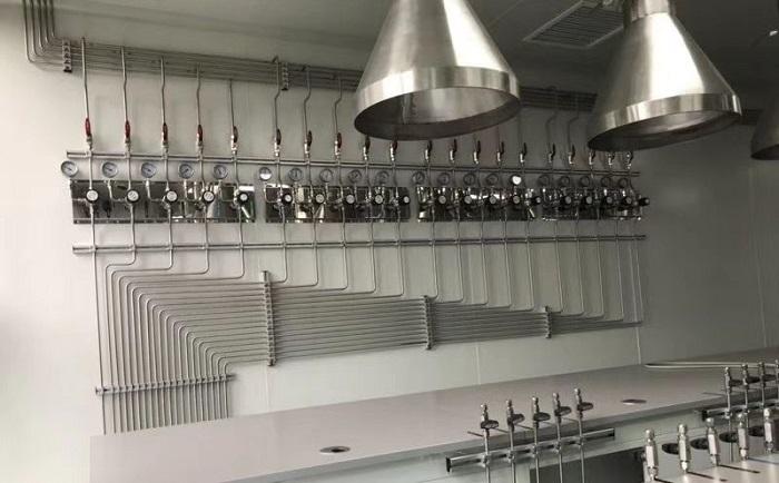 实验室气体管道工程图片